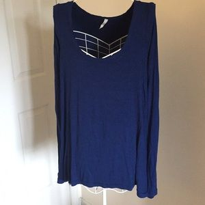 Free People Blue January Tee tunic size M